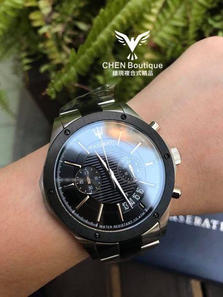 ★MASERATI WATCH★-瑪莎拉蒂手錶-鋼錶帶R8873627003-錶現精品公司-原廠正貨-鏡面保固一年