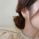 蝴蝶結流蘇珍珠925銀針耳環修飾臉型氣質耳飾女【少女顏究院】