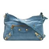 BALENCIAGA 巴黎世家 藍色山羊皮迷你斜背包 Classic Hip Shoulder Bag【BRAND OFF】