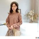 《FA2180-》親膚系列.甜美色調仿貂毛不規則織紋針織毛衣 OB嚴選