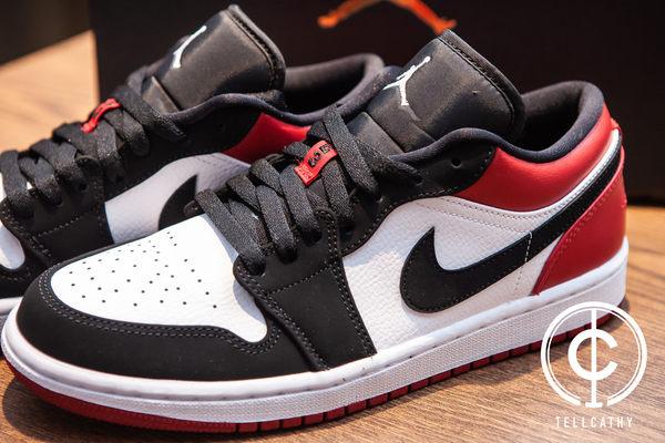 v[TellCathy ] Nike AIR Jordan 1 Low Black Toe 553558-116 黑白紅  男 28~30cm | 籃球鞋 |