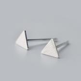 925純銀耳環(耳針式)-時尚經典大方三角形情人節生日禮物女飾品73dr38【時尚巴黎】