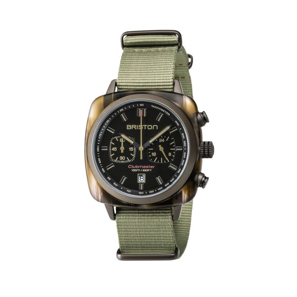 BRISTON 手錶 軍綠 時尚帆布錶帶