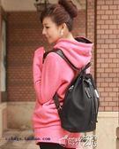 皮革後背包黑色防水牛津布帆布韓版後背包旅游包后背包戶外包包 時光之旅