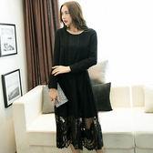 中大尺碼~優雅OL長袖蕾絲洋裝(XL/3XL/4XL)