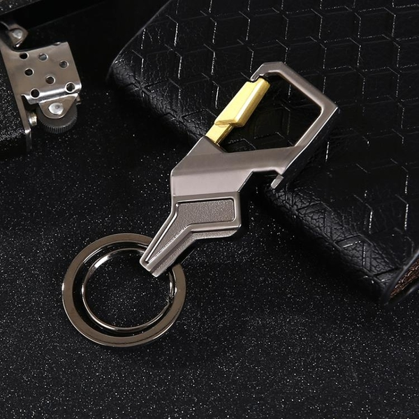 創意男士腰掛鑰匙扣汽車鑰匙扣高檔汽車鑰匙鏈圈金屬掛件刻字LOGO
