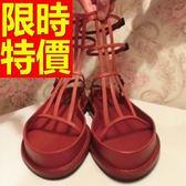 涼鞋-平底首選典雅可愛春夏女休閒鞋2色56l38[巴黎精品]