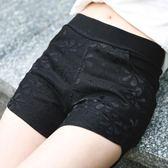 安全褲 夏薄款蕾絲防走光外穿打底褲彈力松緊腰緊身短褲 mc4751『M&G大尺碼』