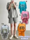 [預購+現貨]韓國-大英字寬T+短褲(4色)-套裝-74401220 -pipima-53