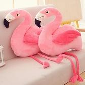 創意ins網紅火烈鳥公仔抱枕玩偶韓國可愛粉色毛絨玩具布娃娃禮物