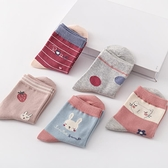 5雙 兒童襪子女童襪子秋季純棉襪中筒襪