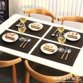 西餐墊  4片裝餐墊歐式PVC西餐隔熱墊長方形日式簡約餐桌墊杯墊碗墊盤墊子  『歐韓流行館 』