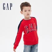 Gap男幼童 Logo撞色條紋針織衫 593025-紅色