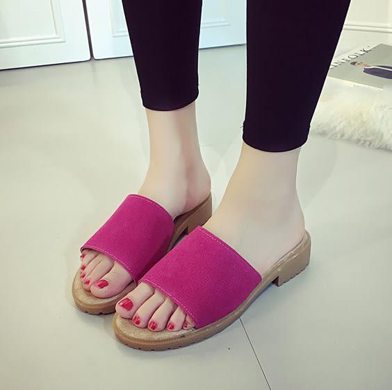 女鞋復古百搭沙灘一字涼拖鞋 艾爾莎【TSB8627】