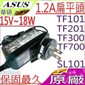 ASUS  15V,1.2A,18W 充電器(原廠)-華碩 TF300TG-1K,TF300TG-1A,TF300TG-1G,TF300TL-B1,TF700T,TF700T-A1