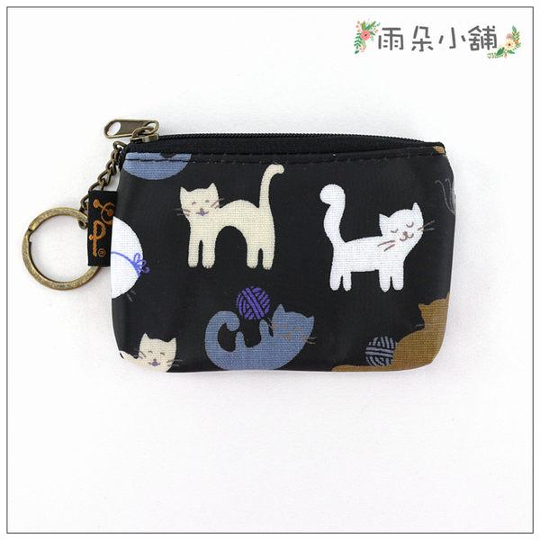 零錢包  鑰匙包 包包 防水包 雨朵小舖M293-384 回家key-黑線球笑笑貓14227 funbaobao