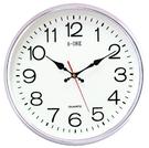 12吋圓形銀框靜音時鐘 TG-0558...