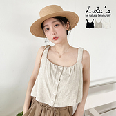 LULUS【A01210533】Y排釦皺感肩帶背心3色