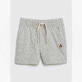 Gap男嬰棉質裝飾繩鬆緊腰休閒短褲547382-淺麻灰