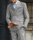 找到自己品牌 男士英倫 雙排扣 两件式西裝外套 成套西裝 修身西裝 西裝外套 外套+褲子