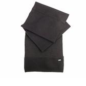 【COACH】素面針織混羊毛圍巾(黑) F32711 BLK