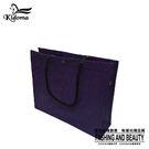 手提袋-編織袋(L)-黑深紫-01C