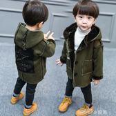 兒童棉衣外套兒童裝男童加絨加厚風衣寶寶外套4中長款冬天衣服1-2-3歲5冬季潮6走心小賣場