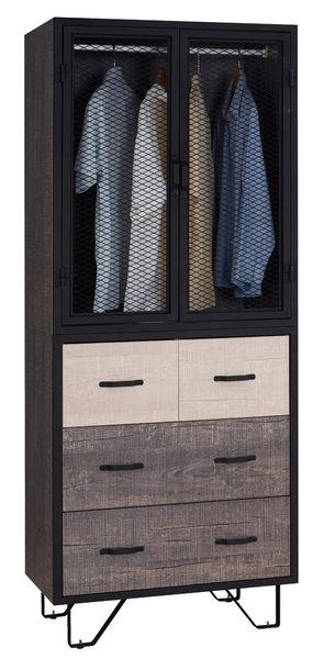 【南洋風休閒傢俱】臥室系列-馬汀8尺組合衣櫃-美式風格-簡約工業風-鐵網抽屜衣櫃-(JF514-A)