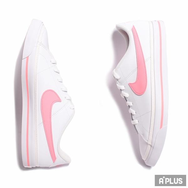 NIKE 女/大童 慢跑鞋COURT LEGACY (GS) 簡約 舒適 白粉-DA5380103