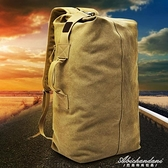 後背包戶外旅行水桶背包帆布登山運動男ins超火個性大容量行李包 黛尼時尚精品