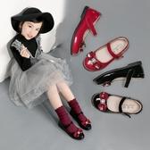 兒童皮鞋2019春秋季新款女童黑色單鞋韓版軟底小女孩寶寶公主鞋子