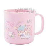 〔小禮堂〕雙子星 日製塑膠小水杯《粉.站姿》200ml.茶杯.漱口杯 4970825-11984
