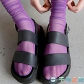 3雙裝日系涼鞋襪女中筒襪透明彩色薄款透氣網紗【千尋之旅】