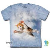 【摩達客】(預購)美國進口 The Mountain 藍天飛撲小貓 純棉環保短袖T恤(YTM104175782172)
