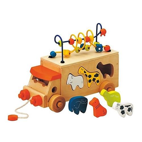 《 日本 Ed.Inter 》動物巴士手拉車╭★ JOYBUS玩具百貨