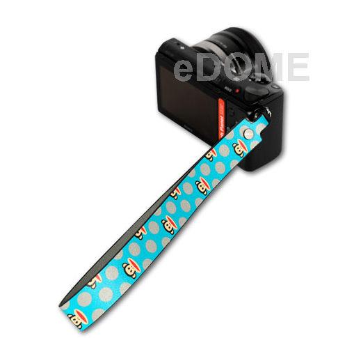 PAUL FRANK 大嘴猴 SH11 藍點點 寬版手腕帶 (免運 湧蓮公司貨) 微單眼/小DC相機專用 13PF-SH11