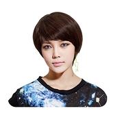 整頂假髮(真髮絲)-短直髮逼真時尚優質女假髮2色73vc12【時尚巴黎】