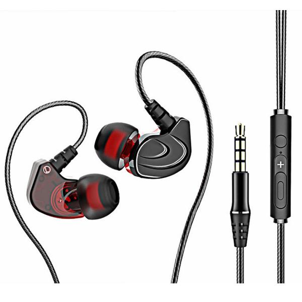 遊戲級 入耳式 立體聲 線控耳機 重低音 高音質 麥克風 3.5mm 入耳式 電腦 手機 平板 『無名』 P02112