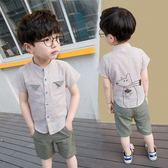 【全館】現折200寶寶夏裝男1-3歲潮2男童短袖休閒套裝3兒童4棉麻5夏季童裝6兩件套