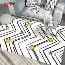 地毯 北歐現代客廳茶幾臥室床邊滿鋪房間可愛長方形可機洗地毯墊