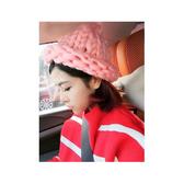毛帽 素色 粗線 麻花 捲邊 針織 毛帽【QI1502】 icoca