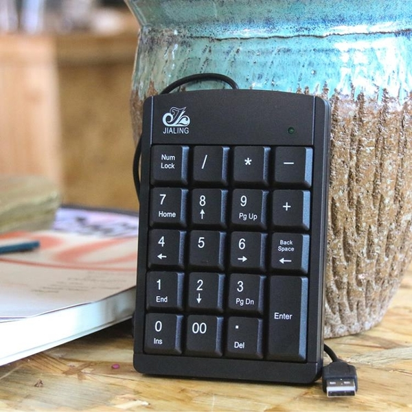 小鍵盤筆記本電腦數字鍵盤 外接迷你小鍵盤 超薄免切換USB財務會計出納【快速出貨】