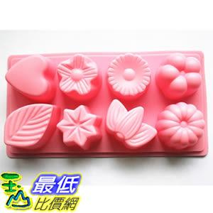[美國直購] Longzang HY1-047 翻糖 蛋糕 模具 8-Cavity Floral Leaf Silicone Cake Soap Decoration Mold