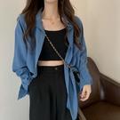 緞面襯衫 夏季法式襯衫女夏設計感小眾防曬衣雪紡上衣小個子襯衣女防曬外套 設計師