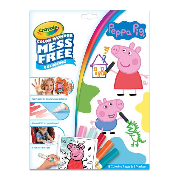 美國crayola 繪兒樂 神彩著色套裝-佩佩豬(紙盒)
