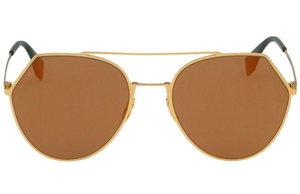 FENDI 廣告主打 水銀鏡面 太陽眼鏡 (金色)FF0194