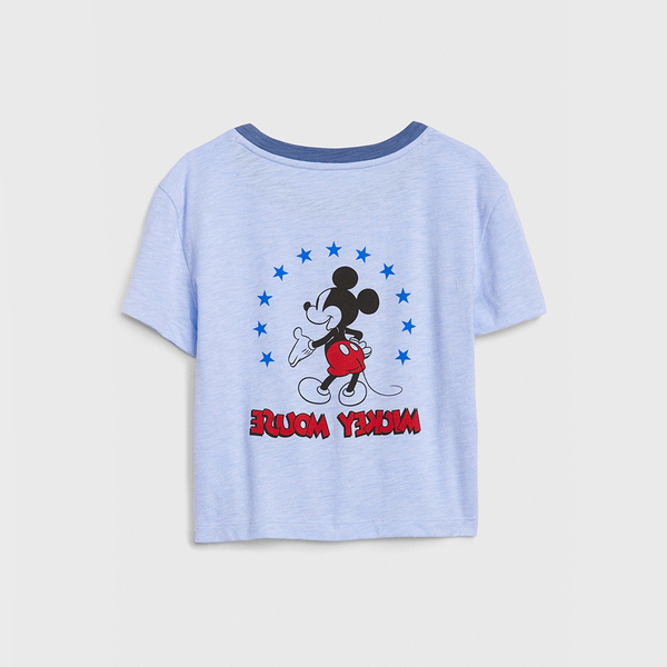 Gap 女童 Gap x Disney迪士尼系列圓領短袖T恤 577852-淺藍色