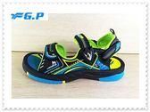 【G.P】童休閒涉水 磁釦  羅馬  涼拖鞋G9210B-60綠色