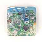 【收藏天地】台灣紀念品*雙面隨身鏡-空拍台北 /小物 送禮 文創 風景 觀光  禮品