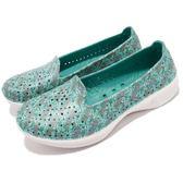 Skechers 休閒鞋 H2 Go Flutter 藍 白 花卉圖騰 輕量EVA水鞋 排水功能 女鞋 運動鞋【PUMP306】 14692TURQ